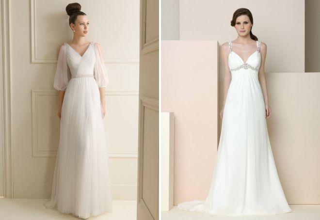 свадебные платья в греческом стиле 2017