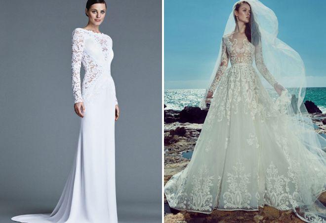 свадебные платья с рукавами 2017