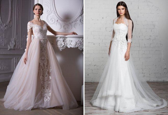 кружевные свадебные платья 2017
