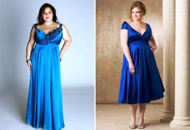 Платья для полных женщин с животиком
