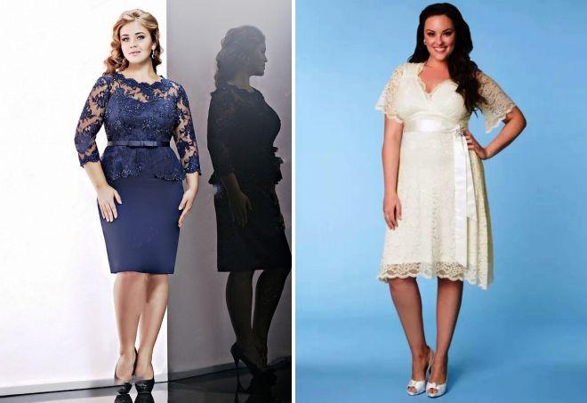 Платья для полных женщин короткие
