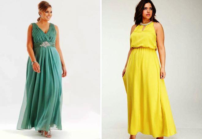 Платья в пол для полных в греческом стиле