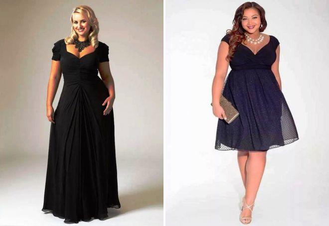 модели вечерних платьев для полных