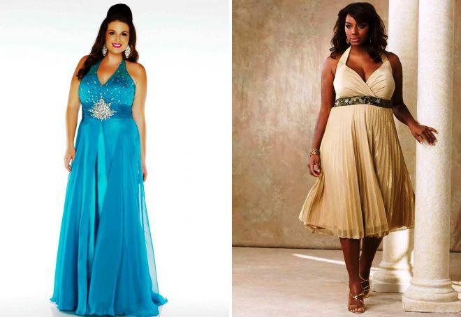 шикарные вечерние платья для полных женщин