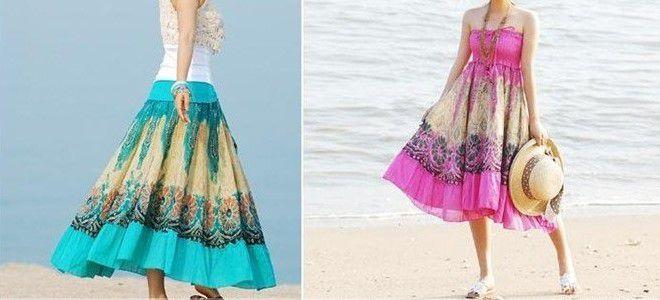 Как из длинной юбки сделать сарафан