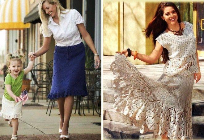 Вязание для полных женщин юбки 97