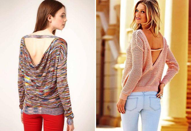 Вязаный Пуловер С Открытой Спиной С Доставкой