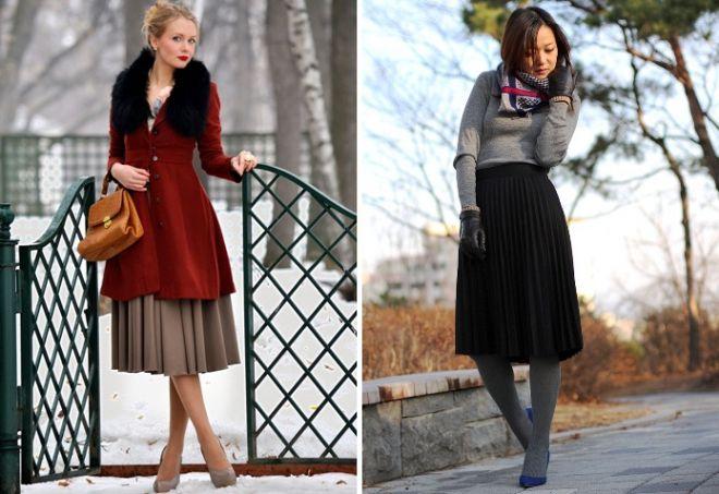 Австралии: с какой длинной верхней одежды носить юбку миди песни:
