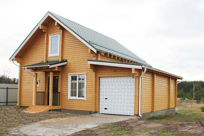 8 небольшой дачный дом из бруса с гаражом