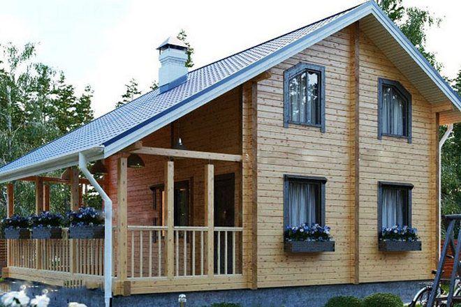 9 дачные дома из бруса с верандой