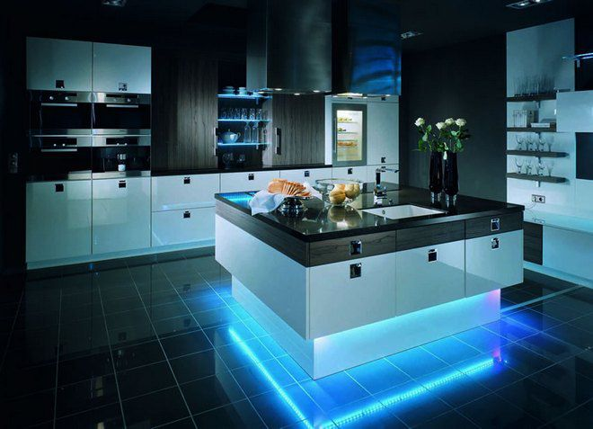 Подсветка кухонного участия