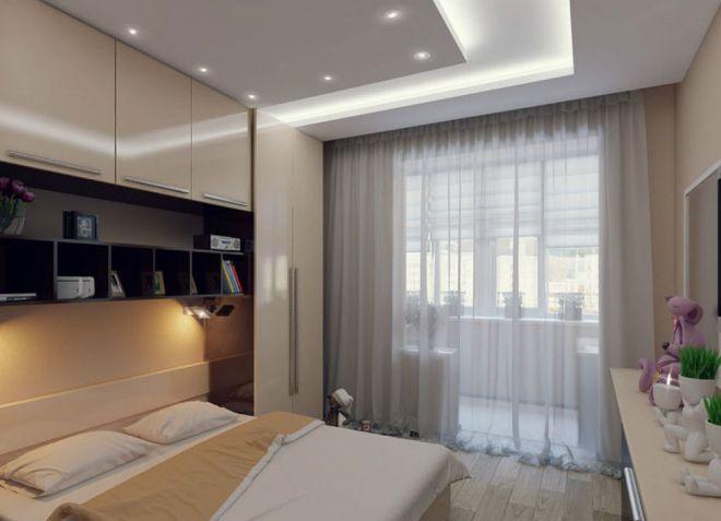 Kleine Minimalistische Slaapkamer : Achtergronden in een kleine slaapkamer
