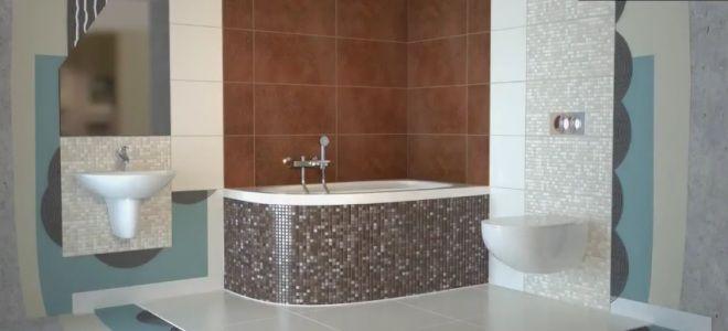 Как самой положить плитку в ванной