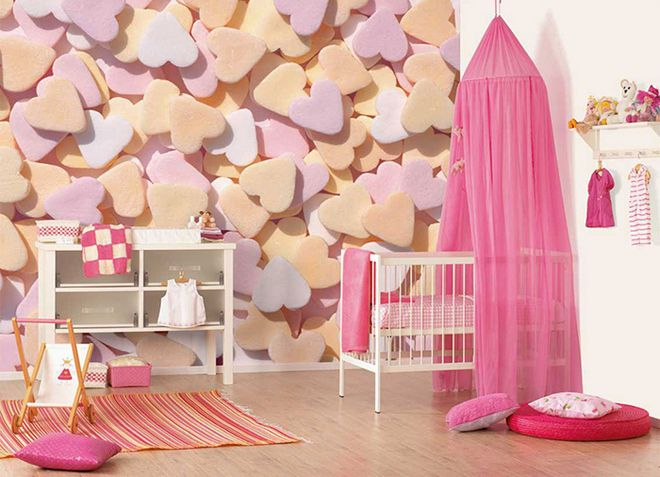Как украсить стену в комнате для девочки