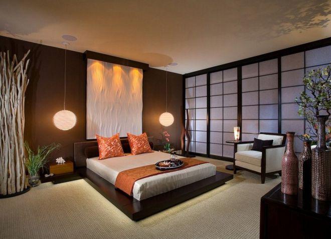 Im japanischen Stil im Innern der Wohnung