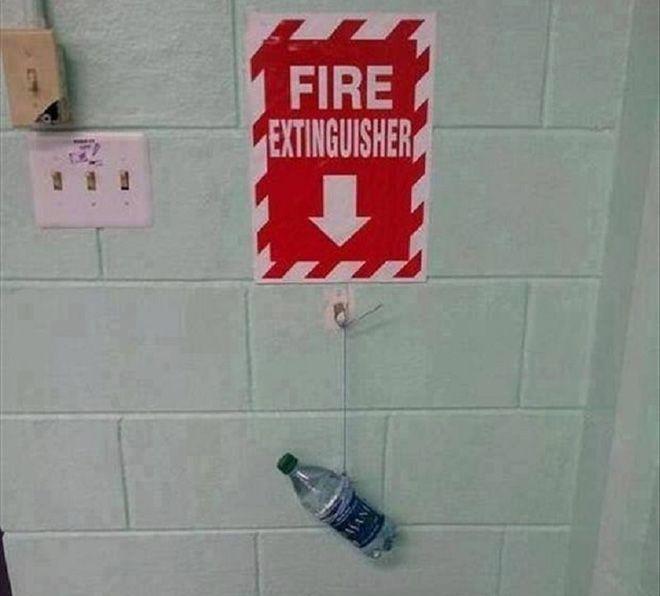 с таким огнетушителем можно