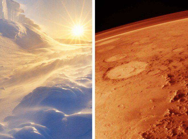 марс и антарктида