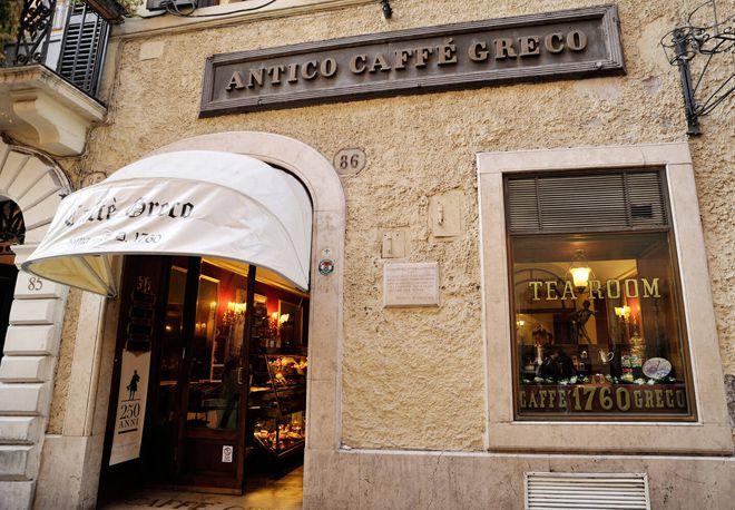 рим кофейня antico саffe greco