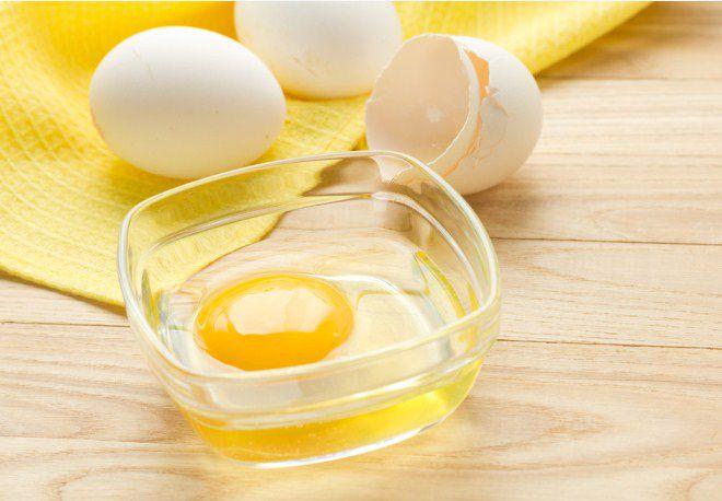 Маска из яичного белка
