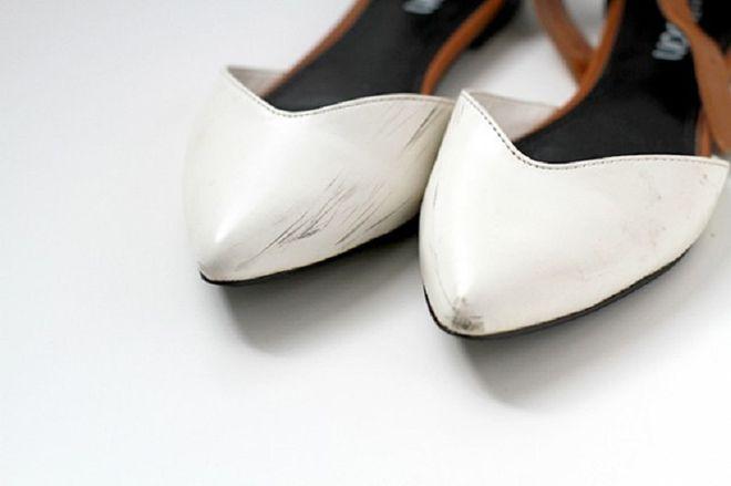 потертая обувь