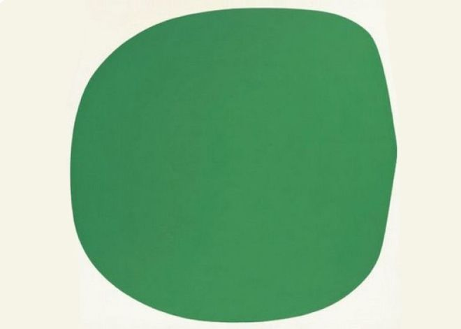 зеленое белое