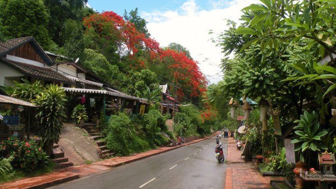 Лаос местность