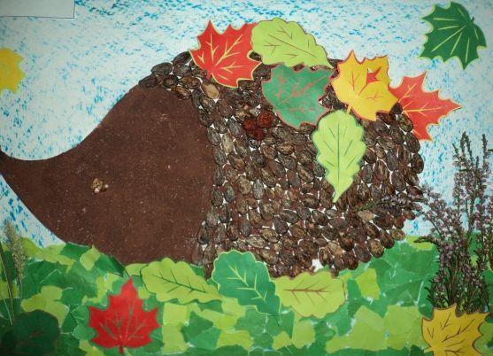 Осенние поделки из круп для детского сада3