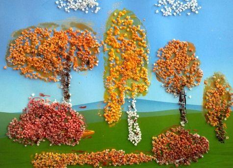 Осенние поделки из круп для детского сада7