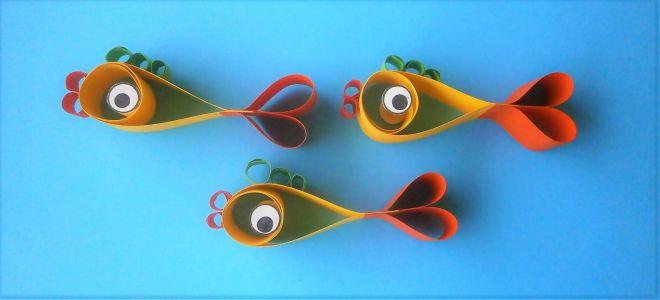 Рыбка из бумаги своими руками для детей