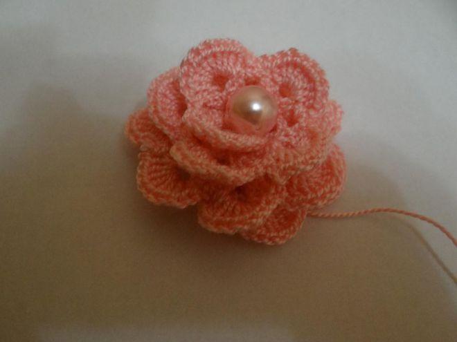 Роза крючком 10