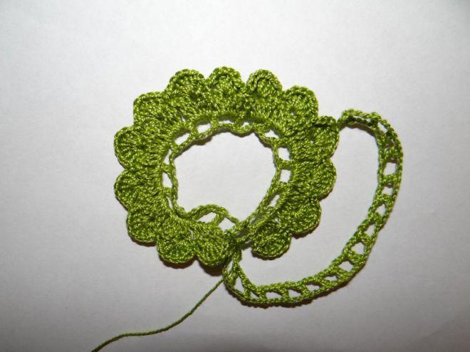вязание крючком цветы розы и листья 5