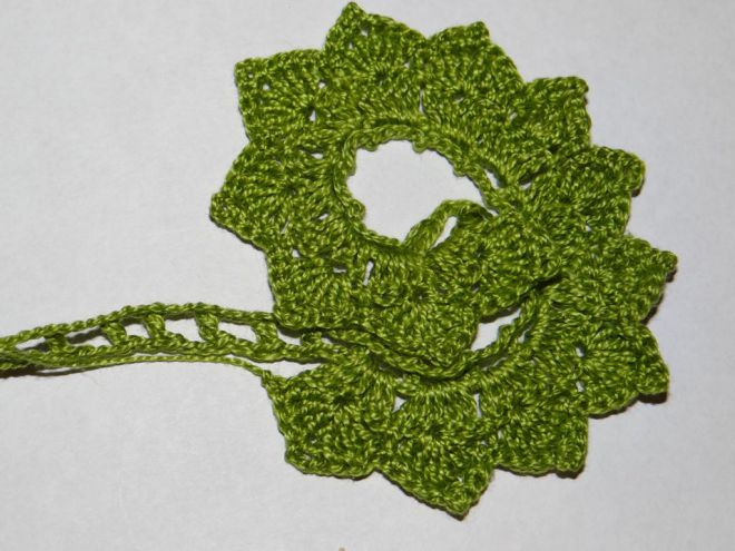 вязание крючком цветы розы и листья 6