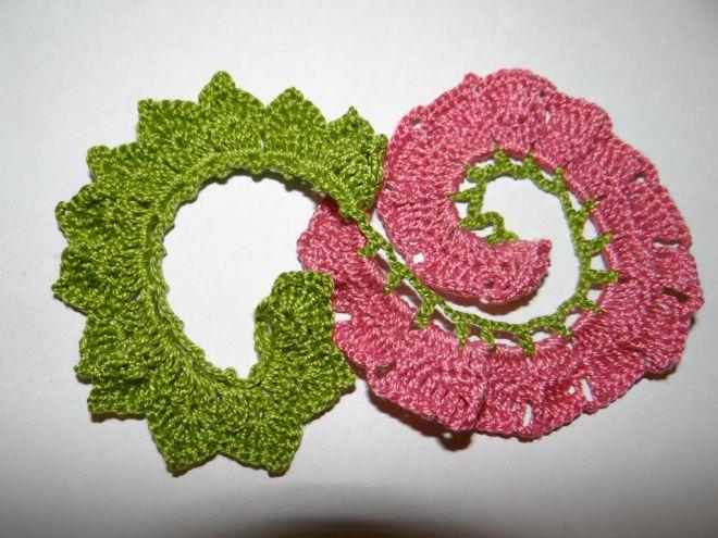 вязание крючком цветы розы и листья 10