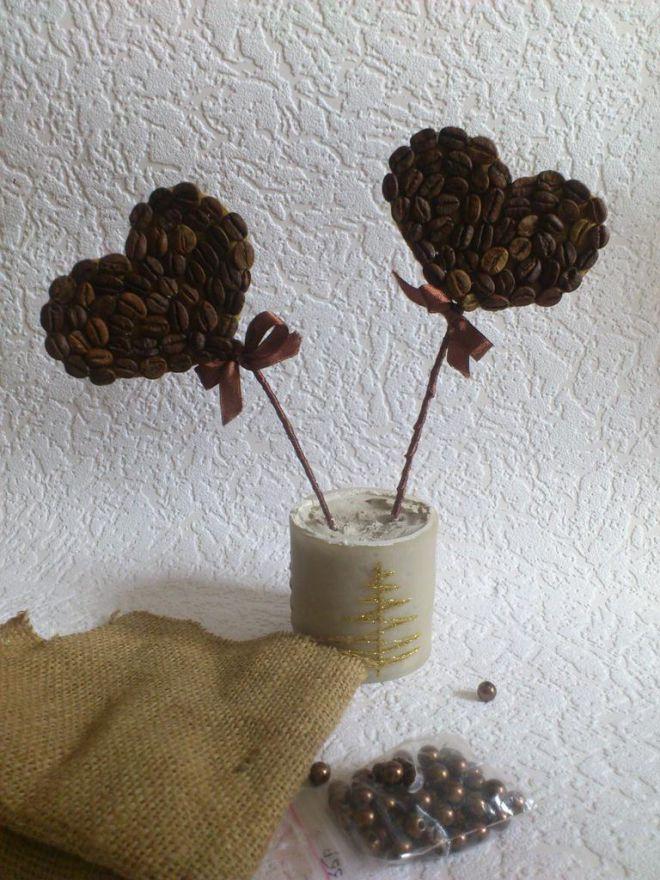 Поделки с кофейных зерен своими руками 75