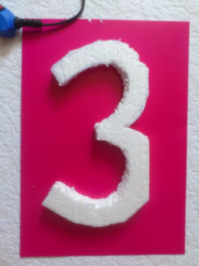 цифра 3 на день рождения своими руками 4
