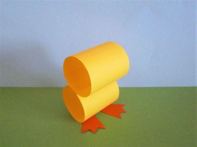 Цыпленок из бумаги своими руками - лапки