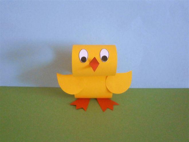 Цыпленок из бумаги своими руками - крылышки