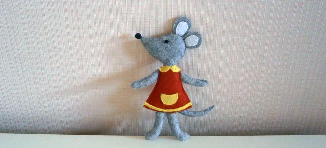 Как сделать мышку из ткани своими руками