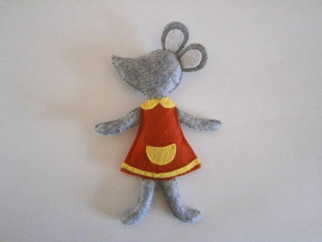 Мышка из фетра14