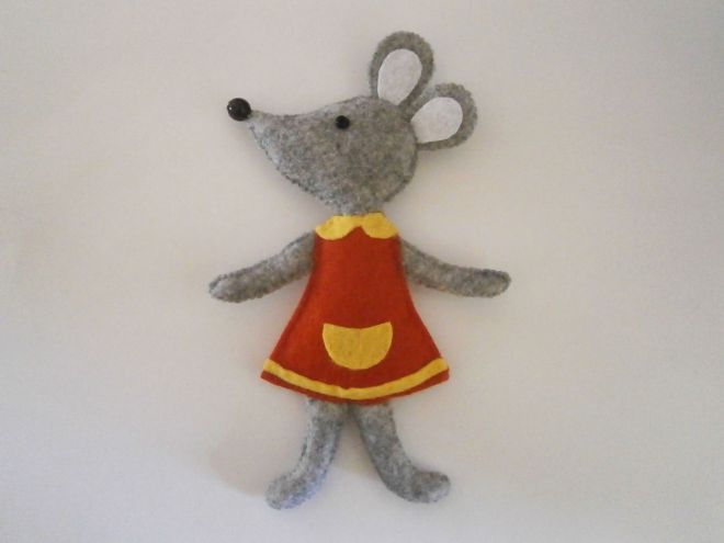 Мышка из фетра15