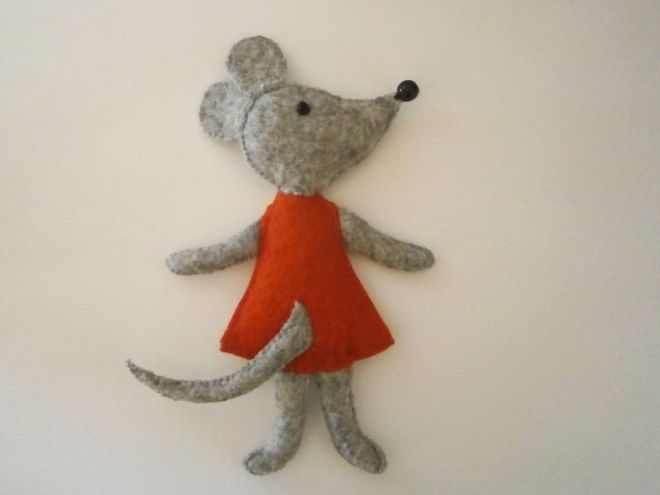Мышка из фетра16