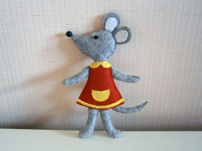Мышка из фетра17