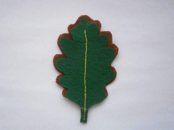 Осенние листья из фетра12