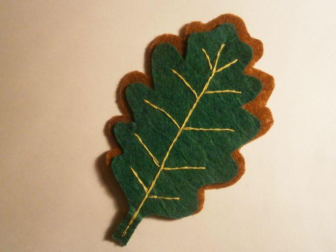 Осенние листья из фетра13