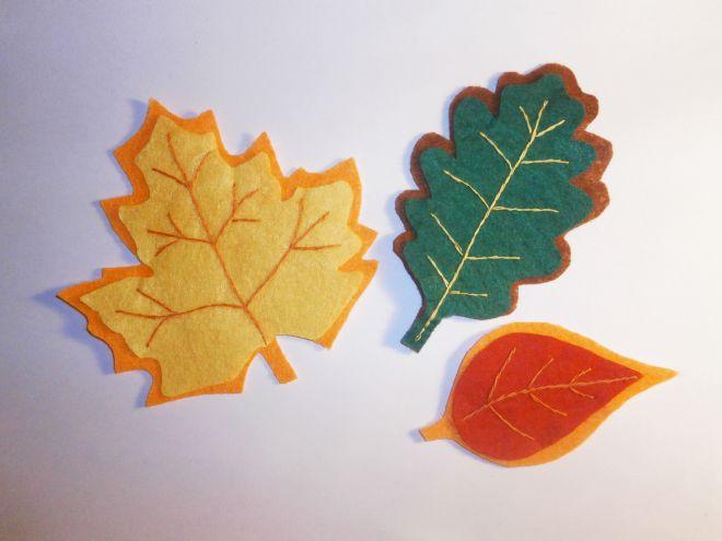 Осенние листья из фетра14