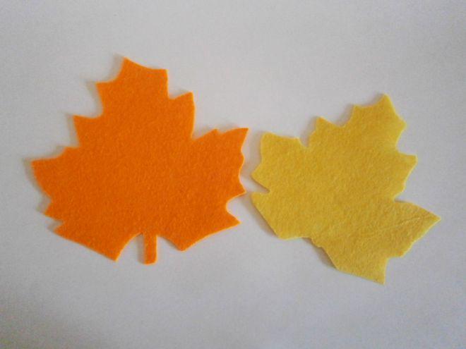 Осенние листья из фетра3