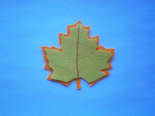 Осенние листья из фетра4
