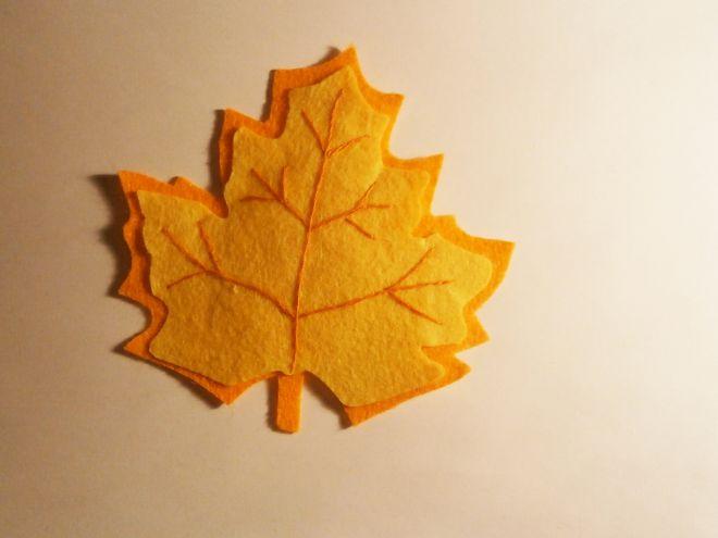 Осенние листья из фетра5