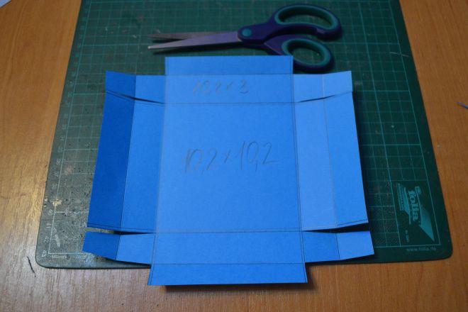 Открытка коробочка скрапбукинг - мастер-класс с фото