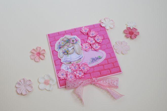 открытка с цветами своими руками из бумаги (18)